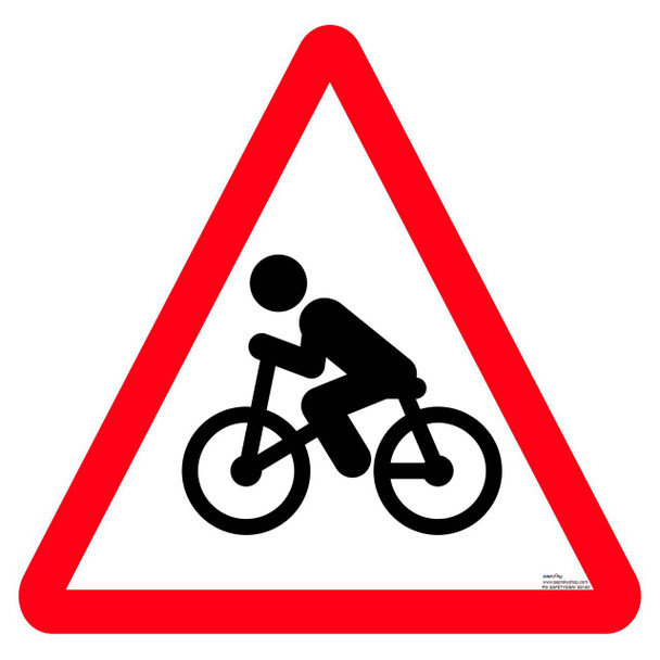 Safety sign - Cycle crossing