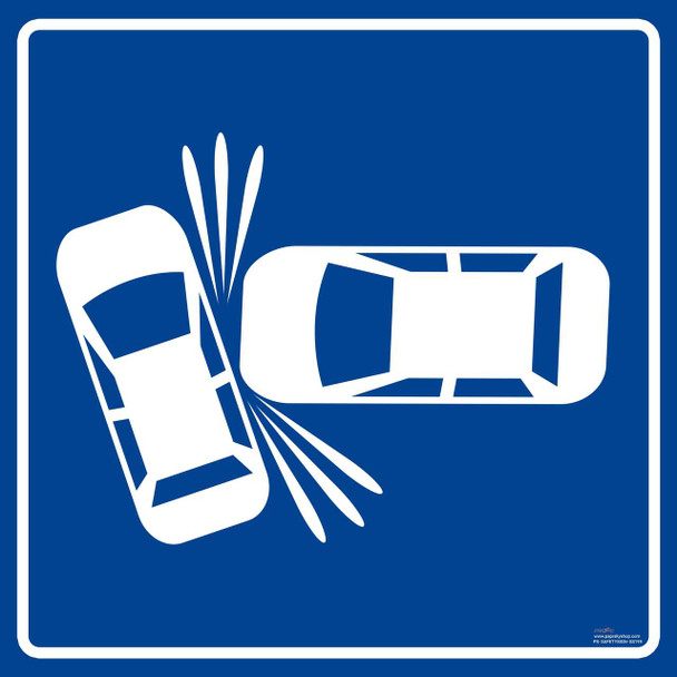 Safety sign - accident zone