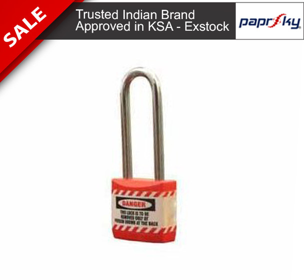Economy lockout Padlock Red - 66MM قفل السلامة