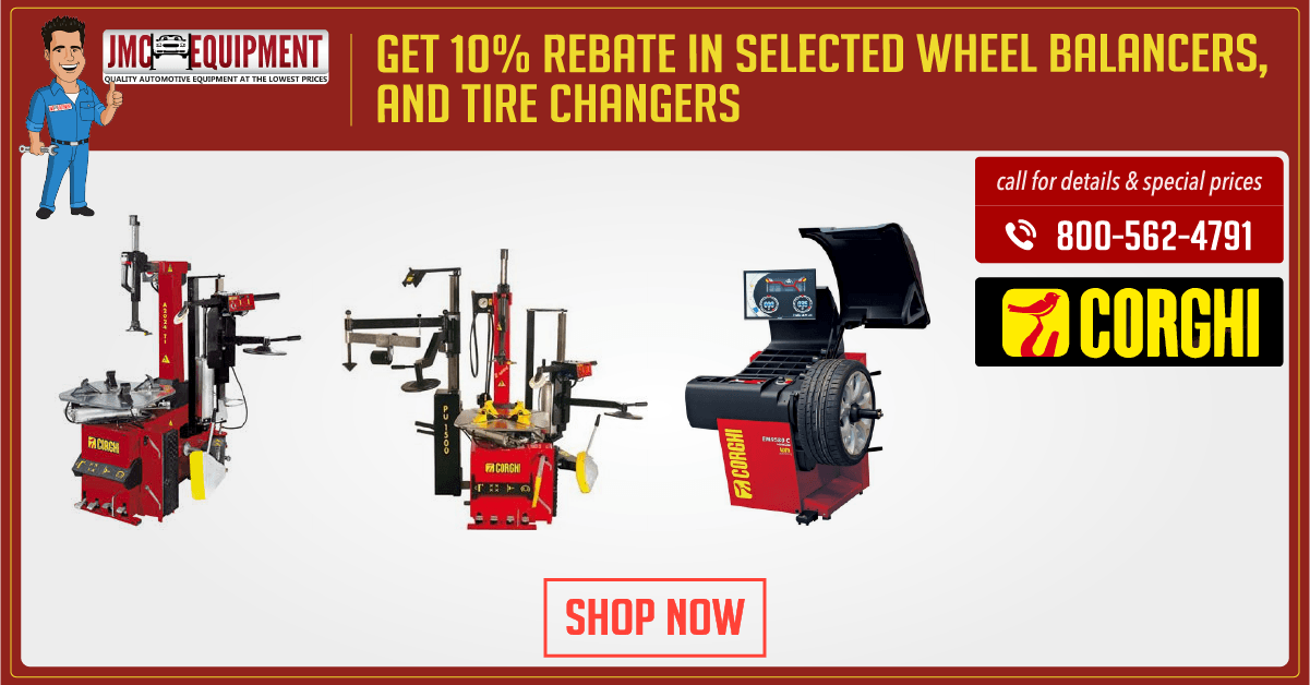 Corghi tire changers and Wheel balancer promotion