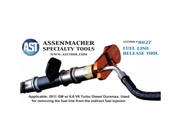 Assenmacher 8027 Duramax Fuel Injector Release Tool