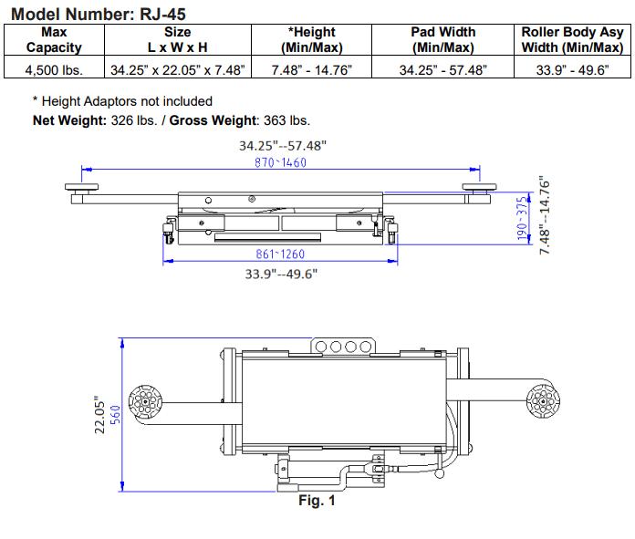 JMC Equipment RJ-45 Rolling Jack