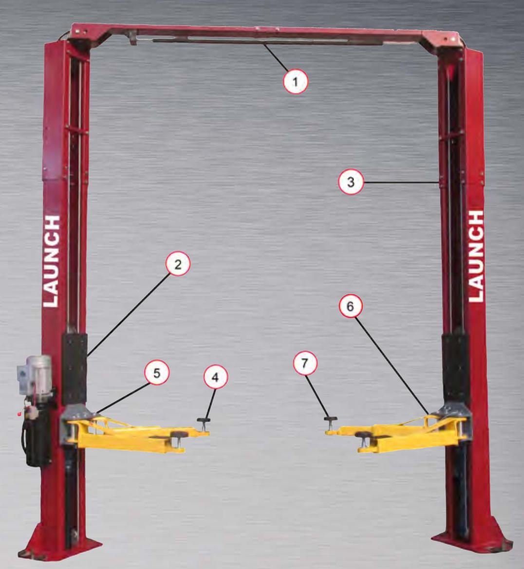 Launch Tech TLT240SC-R Two Post Lift