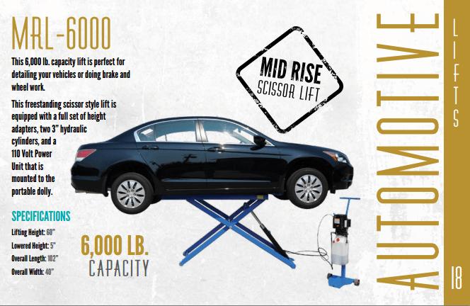 Titan 6,000 lb. Mid Rise Scissor Lift