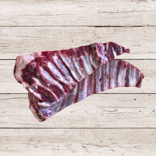 Raw meaty Goat Rib - an ideal meal replacement and compliment to a raw barf diet.