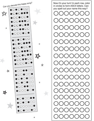 FREE DOWNLOAD - Binary code printable activity pages