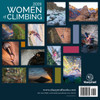 2019 Women of Climbing calendar back cover