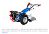 """Model 732K Tractor shown here with 26"""" Rear-Tire Tiller Attachment (sold separately) and larger wheels. Upgrade to 5x10x19 wheels & tires to run the Rotary Plow."""