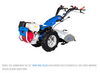 """Model 739, shown with 26"""" Rear Tine Tiller Attachment (sold separately, has three working speeds in both directions."""