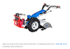 """Model 853 is one of BCS's most popular tractors. Shown with 30"""" Rear-Tine Tiller Attachment, sold separately"""