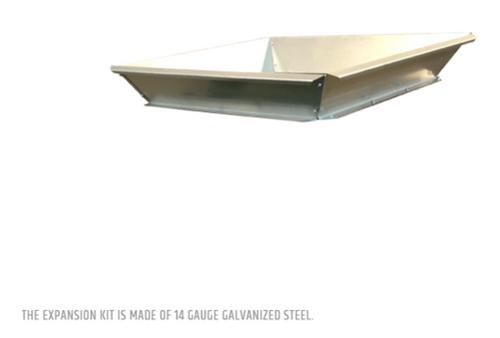 Expansion Kit made of 14 gauge galvanized steel.