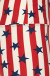 Vertical Stripes USA Flag High Waist Leggings