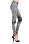 Monochrome Paisley Mandala Leggings
