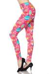 BrushedPink Christmas Plus Size Leggings