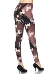 Brushed Mauve Stallion Plus Size Leggings - 3X-5X