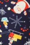 Brushed Santa Claus Medley Plus Size Leggings