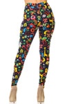 Brushed Animal Letters Plus Size Leggings