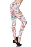 Brushed Pink Rainbow Unicorn Plus Size Leggings