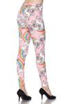 Brushed Pink Rainbow Unicorn Plus Size Leggings - 3X - 5X