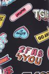 Brushed Sassy Stickers Plus Size Leggings - 3X - 5X