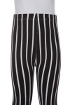 Brushed Black Pinstripe Kids Leggings