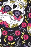 Brushed Pink Petal Sugar Skull Leggings
