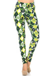 Brushed Luck of the Irish Lime High Waisted Plus Size Leggings
