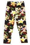 Brushed Daisy Camouflage Kids Leggings