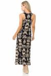 Brushed Elegant Tribal Symbols Maxi Dress - EEVEE