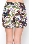 Brushed Dainty Ivory Butterfly Dolphin Shorts
