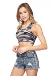 Brushed Camouflage Women's Bra Top