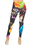Back side image of Double Soft Brushed Colorful Cupcake Leggings
