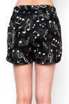 Soft Brushed Musical Note Geometry Dolphin Shorts