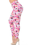 Soft Brushed Gorgeous Pink Flamingos Plus Size Leggings
