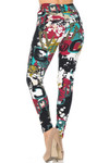 Soft Brushed Summer Picasso High Waisted Leggings