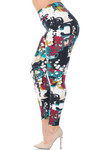 Soft Brushed Summer Picasso High Waisted Plus Size Leggings