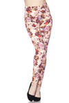 Soft Brushed Ginger Summer Floral Plus Size Leggings