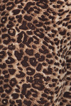 Close up fabric image of Soft Brushed Feral Cheetah Plus Size Leggings