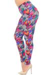 Soft Brushed Rainbow Foliage Extra Plus Size Leggings - 3X-5X