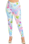 Creamy Soft Marijuana Life Extra Plus Size Leggings - 3X-5X - USA Fashion™