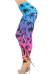 Creamy Soft Ombre Palm Tree Extra Small Leggings - USA Fashion™