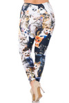 Creamy Soft Cat Collage Extra Plus Size Leggings - 3X-5X - USA Fashion™
