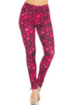 Creamy Soft Red Scale Extra Small Leggings - USA Fashion™