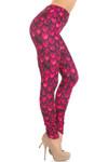Creamy Soft Red Scale Leggings - USA Fashion™