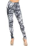 Creamy Soft Photo Negative Tree Extra Small Leggings - USA Fashion™
