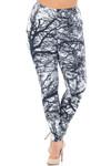 Creamy Soft Photo Negative Tree Extra Plus Size Leggings - 3X-5X - USA Fashion™