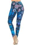 Creamy Soft Blue Owl Collage Leggings - USA Fashion™