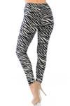Buttery Soft Zebra Bra and Leggings Set