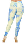 Brushed Pastel Tie Dye Extra Plus Size Leggings - 3X-5X - EEVEE