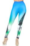 Creamy Soft Blue Sunset Leggings - USA Fashion™